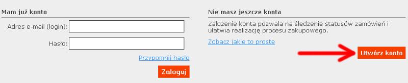 Zakładanie konta w systemie Udanypobyt  - kliknięcie 2