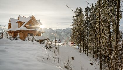 apartament 1050 West 1 Kościelisko Witamy zimowe słońce.