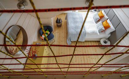 apartament 1050 West 1 Kościelisko Widok z antresoli.