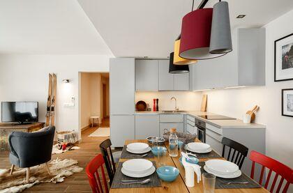 apartament 1050 South Kościelisko Aneks kuchenny z korytarzem do sypialni.