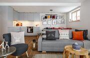 apartament 1050 South Kościelisko Przestronny salon wraz z sofa do odpoczynku.